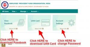 uan passbook at unified member portal epfo